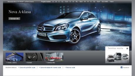 Izrada web sajta Mercedes-Benz
