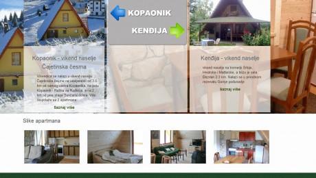 Web sajt Kuće za odmor
