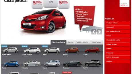 Web prezentacija Toyota Novi Sad