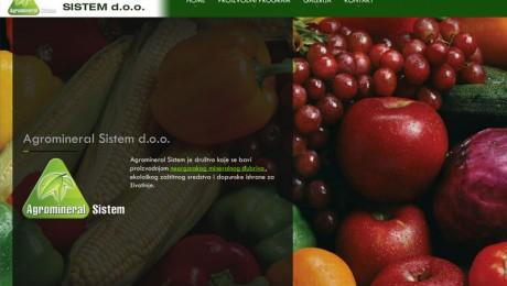 Web sajt Agromineral Novi Sad