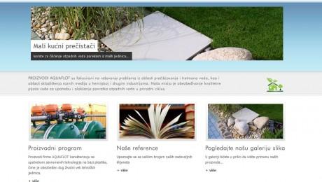 Web sajt za Aquaflot Novi Sad