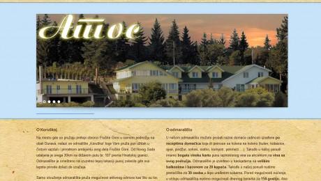 Web sajt Odmaralište Atos Novi Sad
