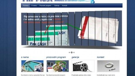 Izrada web sajta Ekstruder Novi Sad
