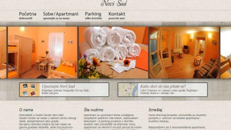 Web sajt – smeštaj – Hostel Novi Sad