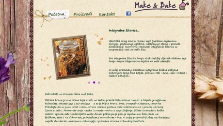 Web sajt Make&Bake Novi Sad