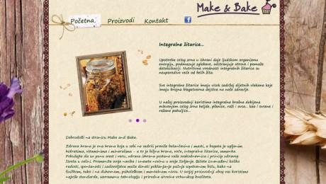 Web sajt Make&Bake Novi Sad
