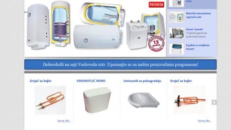 Web sajt SZTR Vodovod Novi Sad