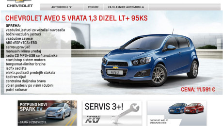 Web sajt Novi Sad Chevrolet