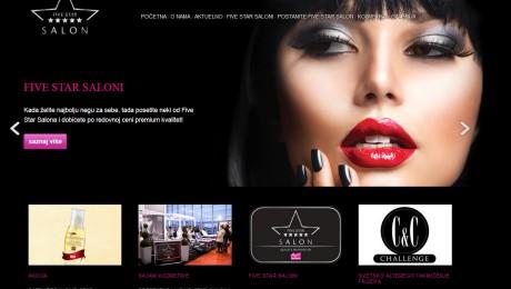 Web sajt Fivestar Salon