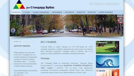 Web sajt JKP Standard Vrbas