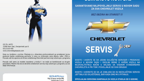Izrada kataloga Chevrolet Novi Sad