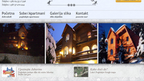 Jahorina booking web sajt Novi Sad