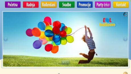 Izrada wordpress sajta EOL Balloni