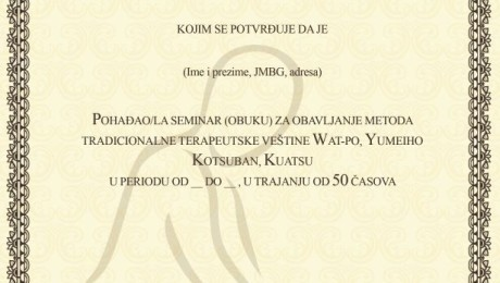 Izrada sertifikata Novi Sad